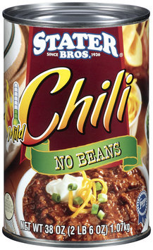 Stater Bros. No Beans Mild Chili 38 Oz Can