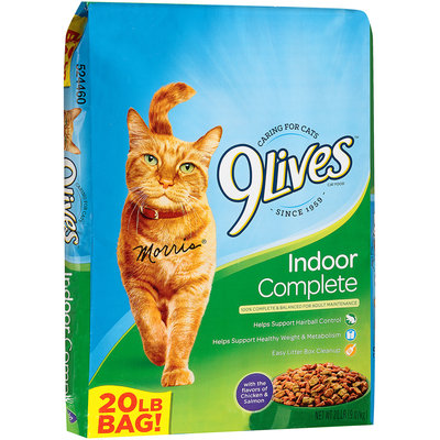 9Lives Indoor Complete Dry Cat Food, 20-Pound