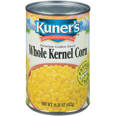 Kuner's Premium Golden Sweet Whole Kernel Corn 15.25 Oz Can