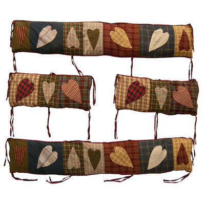 Tadpoles Patch Magic BCPHRT Primitive Hearts Bumper Cover