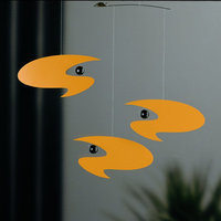 Flensted Mobiles Abstract Stella Nova Mobile in Yellow
