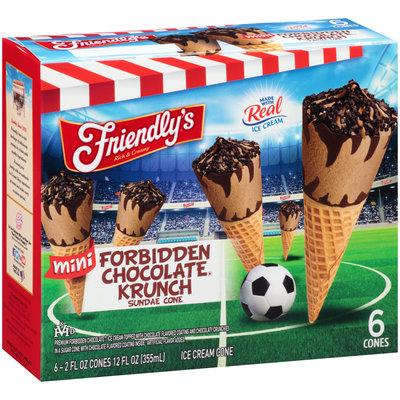 Friendly's® Rich and Creamy Forbidden Chocolate® Krunch Sundae Cone 6-2 fl.oz. Cones