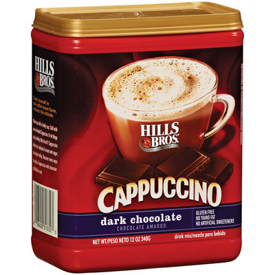 Hills Bros Dark Chocolate Cappuccino 12 Oz Plastic Container