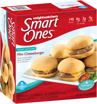 Weight Watchers® Smart Ones® Smart Anytime Mini Cheeseburger 6-2.46 oz. Box