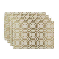 Chooty & Co. Milo Straw Lined Placemat (Set of 4)