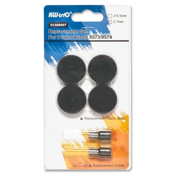 Business Source Punch Head Replacement Kit - Silver Black