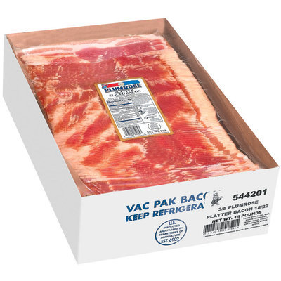 Plumrose Platter Style Food Service Bacon 15 Lb Box