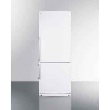 Summit Appliance Refrigerator 27 in. W 13.81 cu. ft. Bottom Freezer Refrigerator in White, Counter Depth FFBF280WX