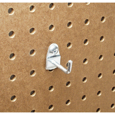 Triton Products Llc Triton Products 71119 Zinc Plated Steel Pegboard Hook for DuraBoard, 10 Pack