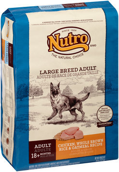 Nutro® Large Breed Adult Chicken, Whole Brown Rice & Oatmeal Recipe Dog Food 30 lb. Bag