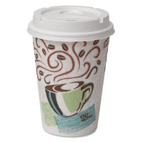 Dixie Paper Hot Cups and Lids Combo Bag (Pack of 50)