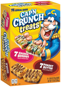 Cap'n Crunch® Treats Crunch Berries/Peanut Butter Cereal Bars Variety Pack 14 ct Box