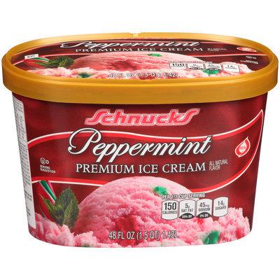 Schnucks® Peppermint Premium Ice Cream 48 fl. oz. Carton