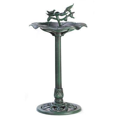 Malibu Creations Zingz & Thingz Verdant Pedestal Birdbath