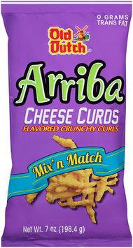 Old Dutch® Arriba® Cheese Curds Crunchy Curls 7 oz. Bag