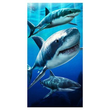 Zipcode Design Open Box Price Sharks Beach Towel