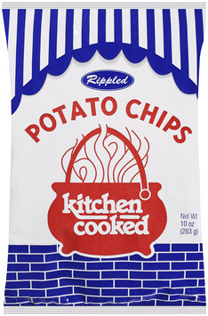 Rippled Kitchen Cooked Potato Chips 10 oz Bag