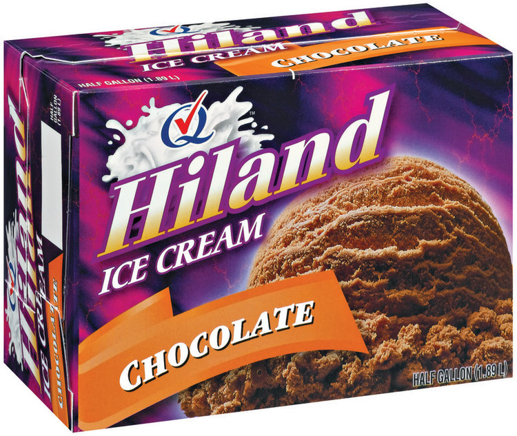 Hiland Chocolate Ice Cream .5 Gal Carton