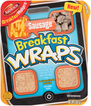 Armour® BreakfastMakers™ Sausage Breakfast Wraps 2.65 oz. Tray