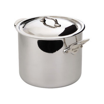 Mauviel M'cook Stock Pot with Lid - 10.5 Quart - M'cook