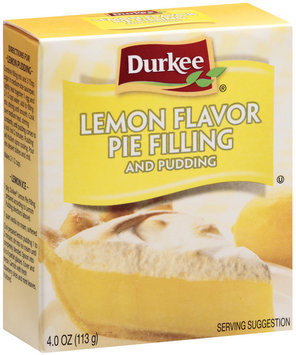 Durkee Lemon Flavor  Pie Filling & Pudding 4 Oz Box