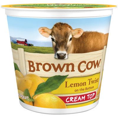 Brown Cow Lemon Twist on the Bottom Cream Top Yogurt 6 oz. Cup