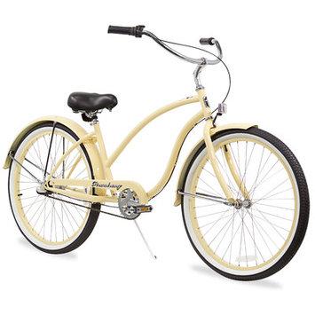 Beachbikes Women's Chief Beach Cruiser Bike Frame Color: Vanilla