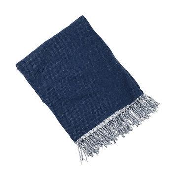 Saro Classic Baby Blanket Color: Navy Blue