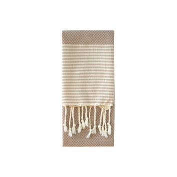 Nine Space Aegean Hand Towel, 31 x 15, Cream, 1 ea