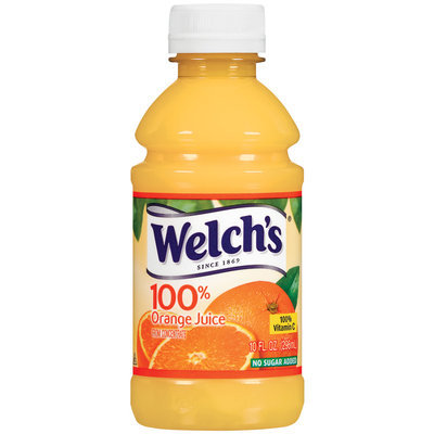 Welch's Single Serve Orange, Modified 6/2/07 100% Juice 10 Oz Plastic Bottle