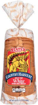 Stater Bros.® Country Harvest Split Top White Bread 24 oz. Bag