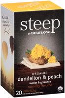 Steep by Bigelow® Organic Dandelion & Peach Rooibos & Green Tea 20 ct. Bags