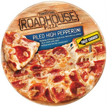 tombstone roadhouse piled high pepperoni pizza