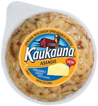 Kaukauna® Asiago with Almonds Spreadable Cheese 10 oz. Pack