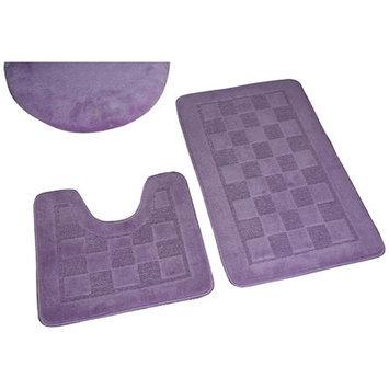 Dainty Home 3 Piece Bath Rug Set, Lilac