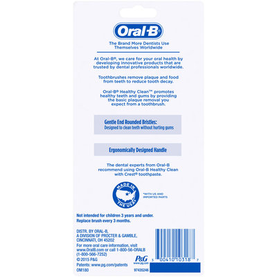 Oral-B Healthy Clean 40 Soft Toothbrush 3 Count