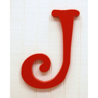 New Arrivals New Capital Letter - J - Color: Rusty Red