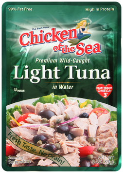 Chicken of the Sea® Light Tuna in Water 3 oz. Pouch