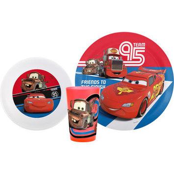 Zak Designs Boys 3-Piece Dinnerware Set - Cars