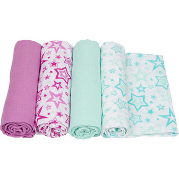 Miracle Blanket Stars 4 Piece Swaddle Blanket Set