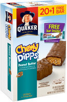 Quaker® Chewy® Dipps® Peanut Butter Granola Bars 21 ct Bars