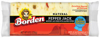 Borden Natural Pepper Jack Cheese 8 Oz Chunk