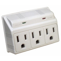 Morris Products 3 Outlet Wall Outlet Surge Protector