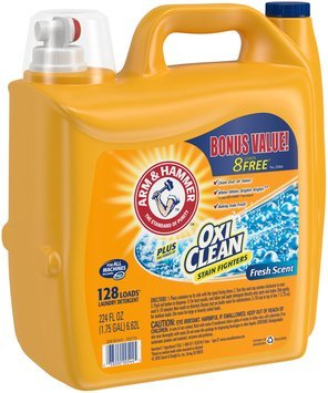Arm & Hammer™ Plus OxiClean™ Stain Fighters Fresh Scent Laundry Detergent 224 fl. oz. Jug