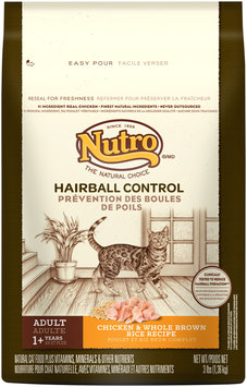Nutro® Hairball Control Adult Chicken & Whole Brown Rice Recipe Cat Food 3 lb. Bag