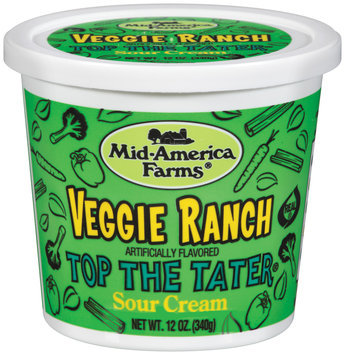 Mid-America Farms® Top the Tater® Veggie Ranch Sour Cream 12 Oz Plastic Tub
