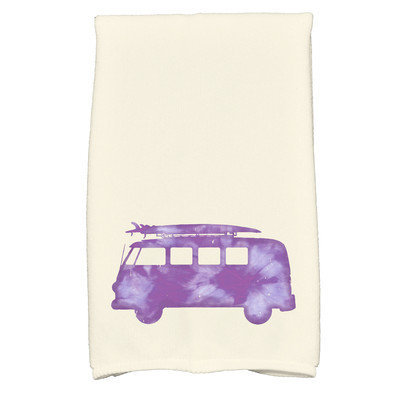 Bay Isle Home Golden Beach Beach Drive Transportation Print Hand Towel Color: Purple