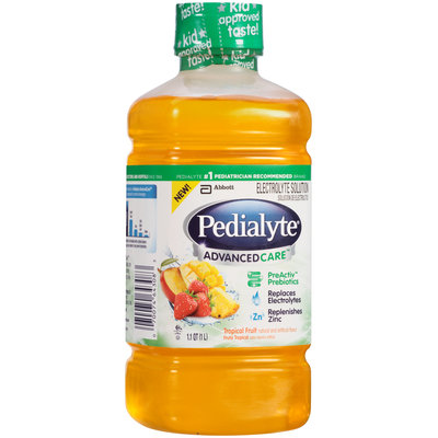 Pedialyte® Advanced Care™ Tropical Fruit Electrolyte Solution 1.1 qt. Bottle