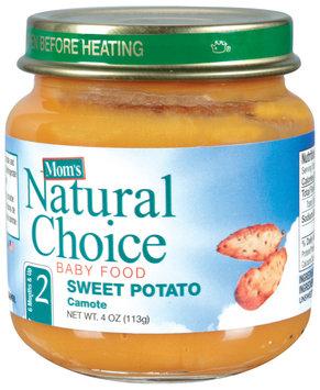 Mom's Natural Choice Baby Food Sweet Potato 4 oz Jar