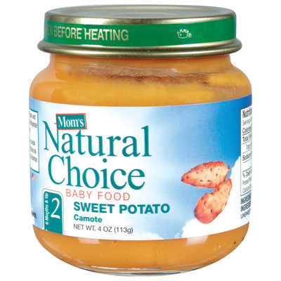 Mom's Natural Choice Baby Food Sweet Potato 4 oz Jar